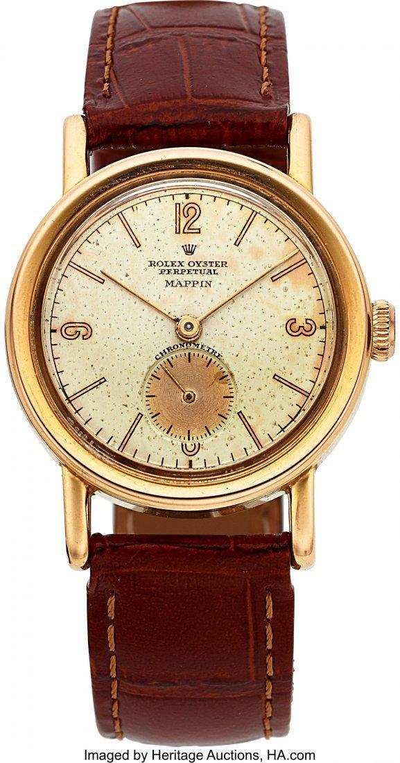 "54143: Rolex Rare Ref. 3716 Rose Gold ""Empire"" Oyster P"