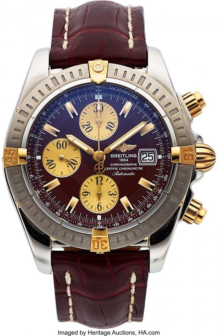 buy popular 5a4f7 b5e47 54016: Breitling B13356 Chronomat Evolution Two Tone Au