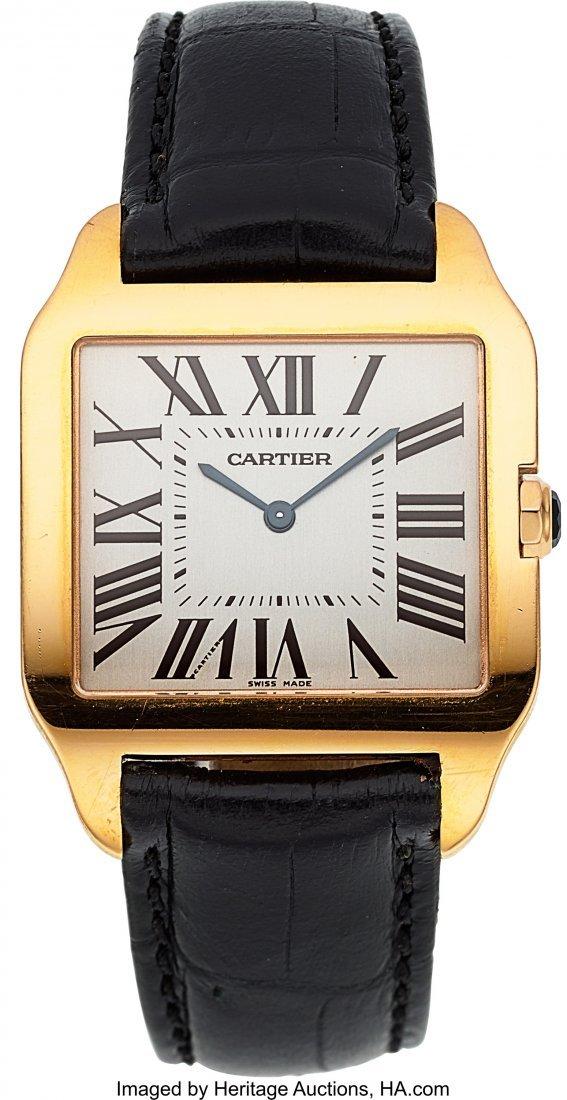 54046: Cartier Ref. 2650 Large Rose Gold Santos Dumont