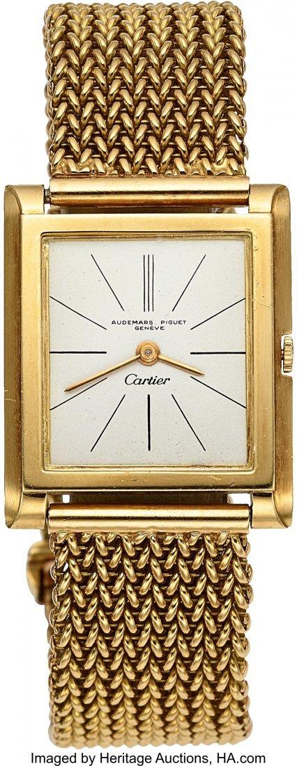 54116: Audemars Piguet For Cartier Important Gold Watch