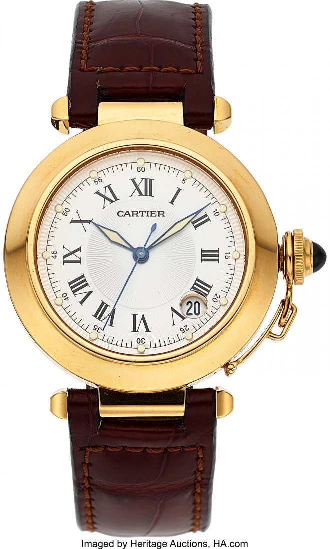 54048: Cartier Ref. 1028 Yellow Gold Pasha Automatic C