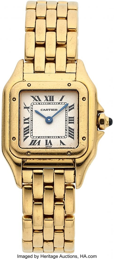 54051: Cartier Lady's Gold Panthere Case: 18k yellow g