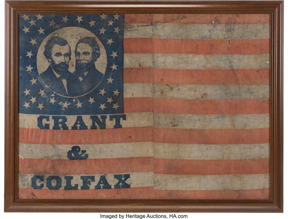 """43098: Grant & Colfax: A Huge 47"""" x 34.5"""" Jugate Campai"""