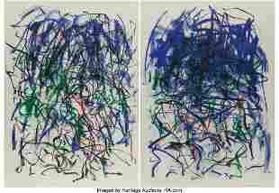 77188: Joan Mitchell (1926-1992) Sunflowers II, diptych