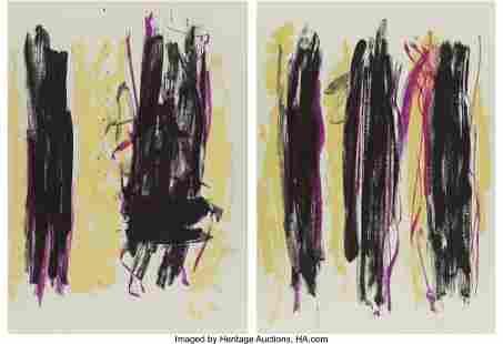 77190: Joan Mitchell (1926-1992) Trees III, diptych, 19