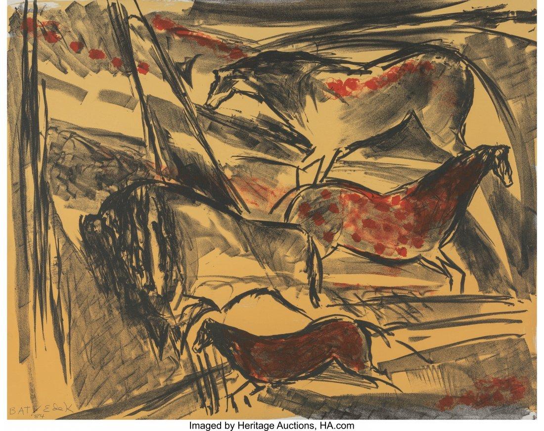 77160: Elaine de Kooning (1919-1989) Untitled (Horses),