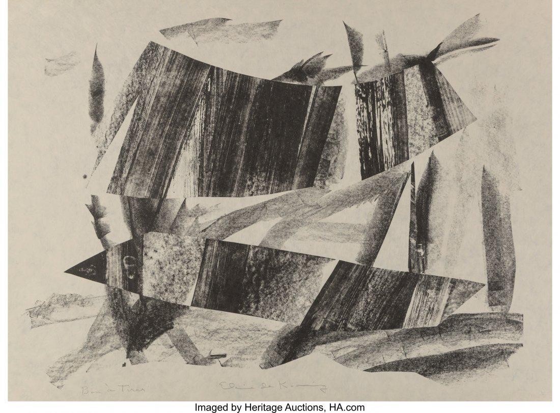 77161: Elaine de Kooning (1919-1989) Untitled, n.d. Lit