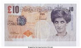 60008: Banksy (b. 1974) Di-Faced Tenner, 10 GBP Note, 2