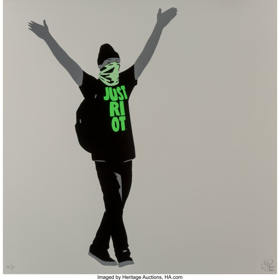 60166: Pure Evil (b. 1968) Just Riot (Fleuro Green), 20