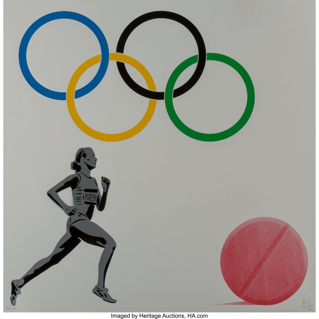 60167: Pure Evil (b. 1968) The New Logo for the Olympic