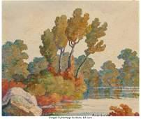 69011: Birger Sandzén (American, 1871-1954) Smoky Hill
