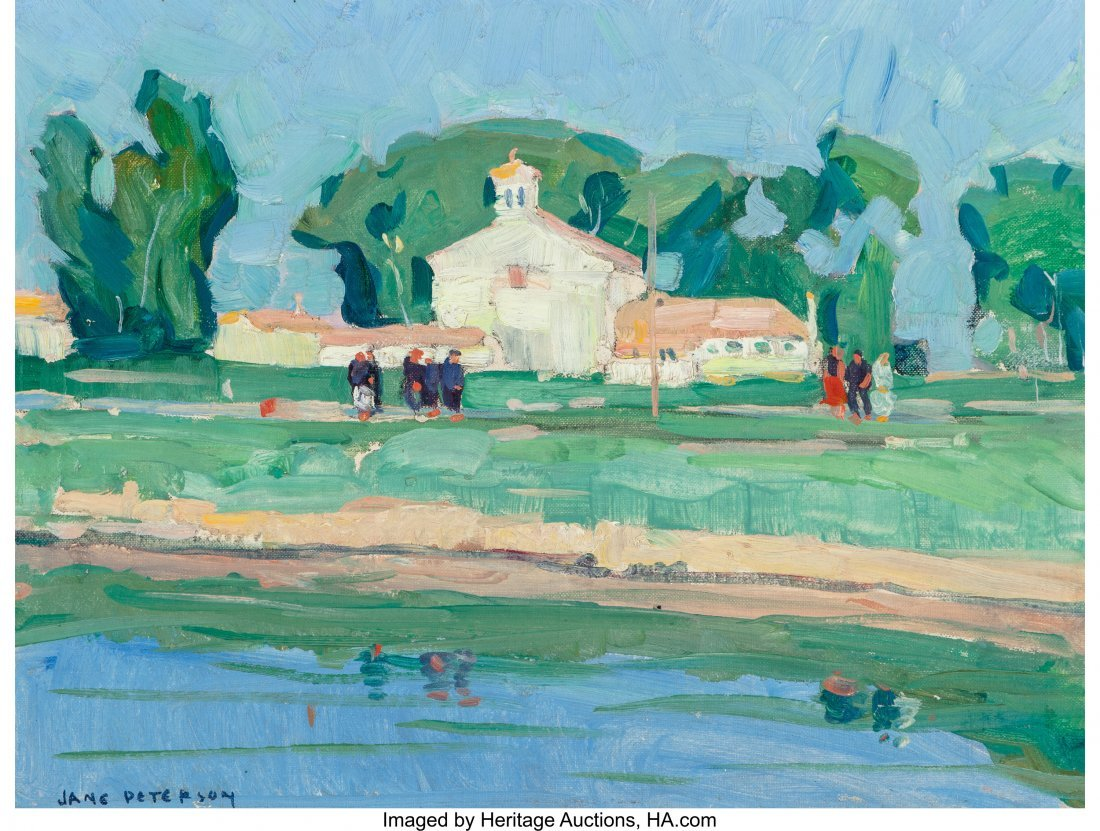 69082: Jane Peterson (American, 1876-1965) Italian Coun