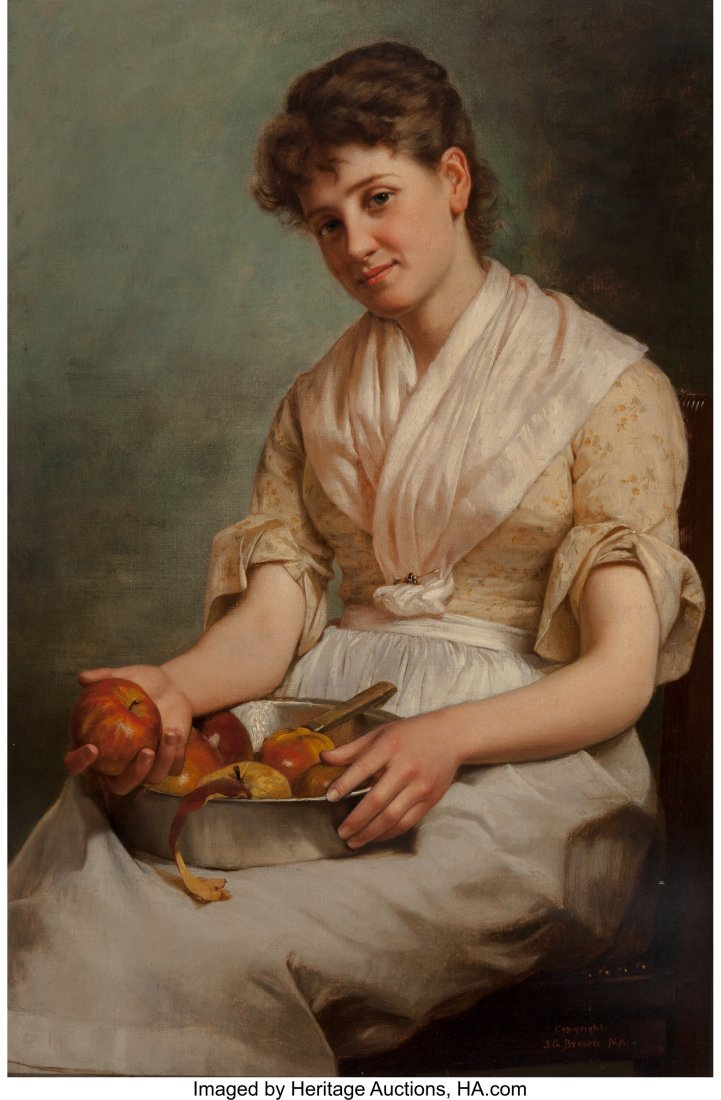 69088: John George Brown (American, 1831-1913) Girl Pee