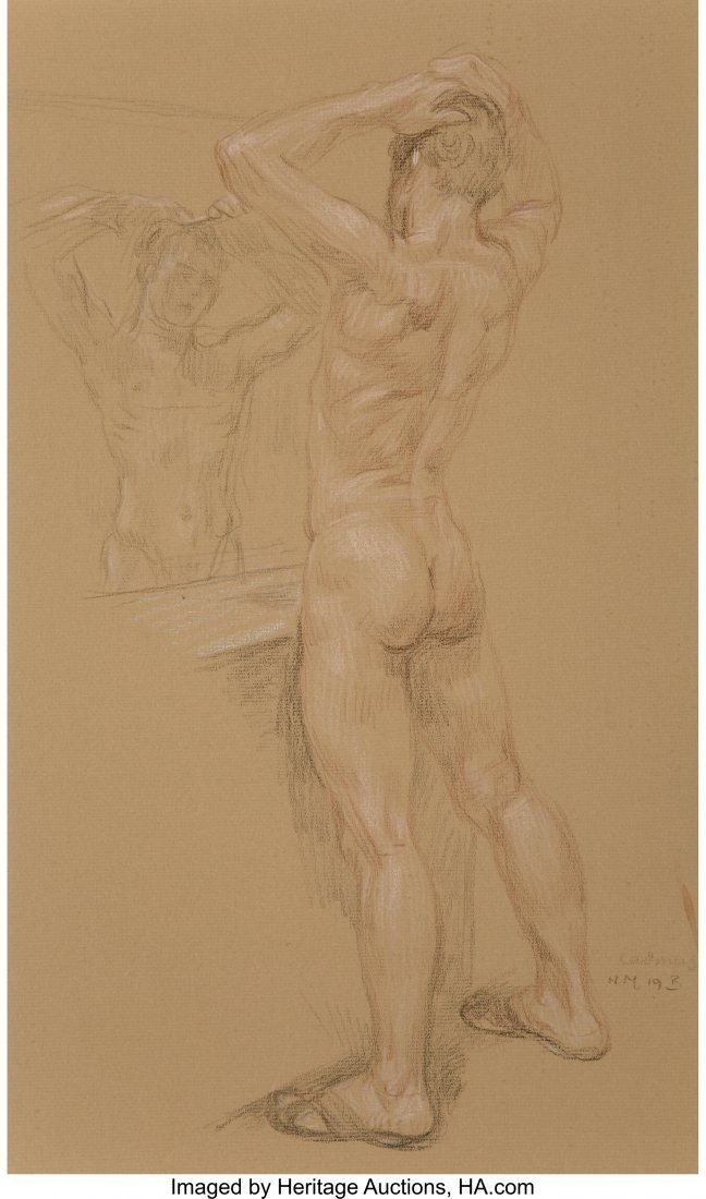 69160: Paul Cadmus (American, 1904-1999) Jon at Mirror