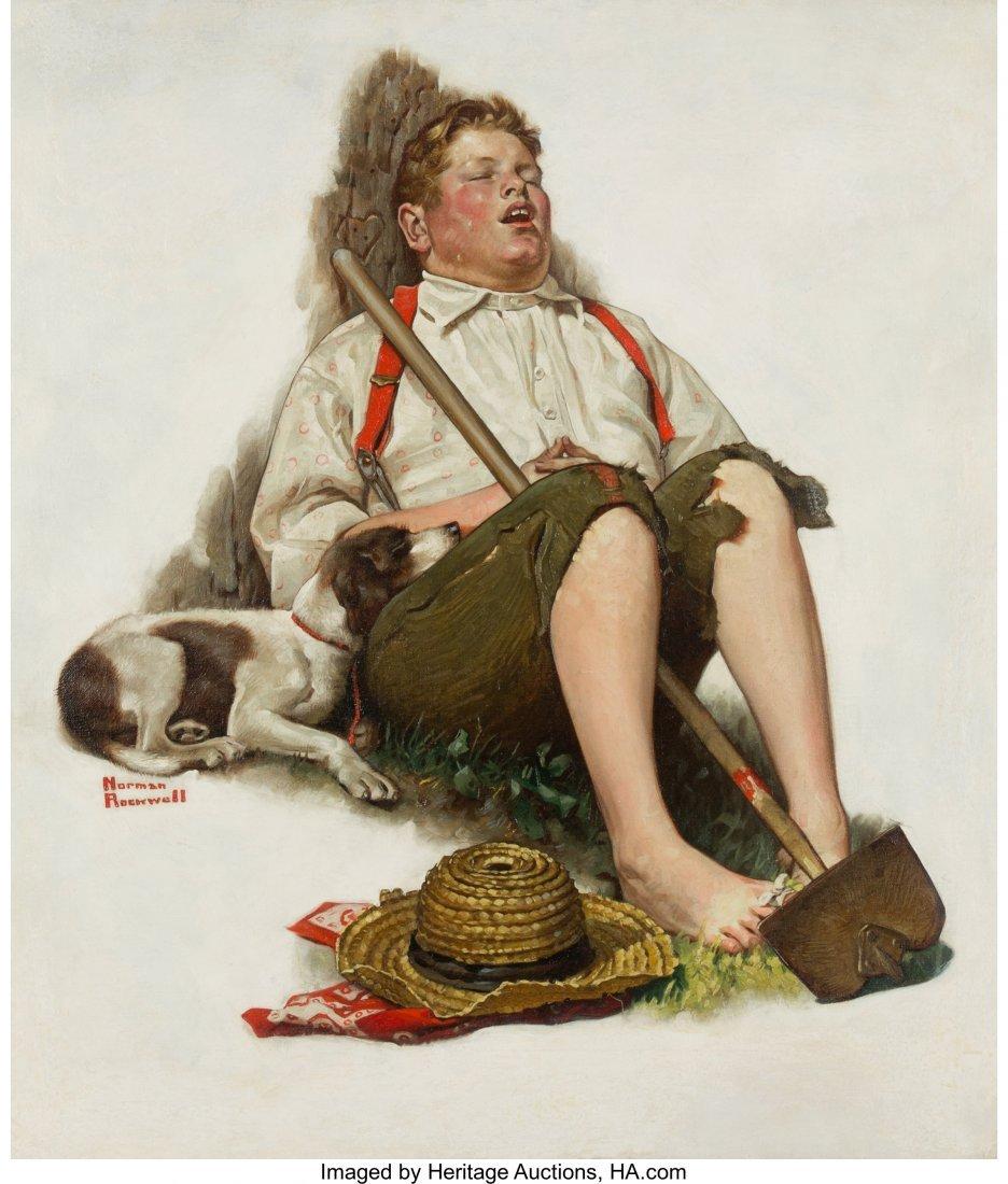 69166: Norman Rockwell (American, 1894-1978) Lazybones,