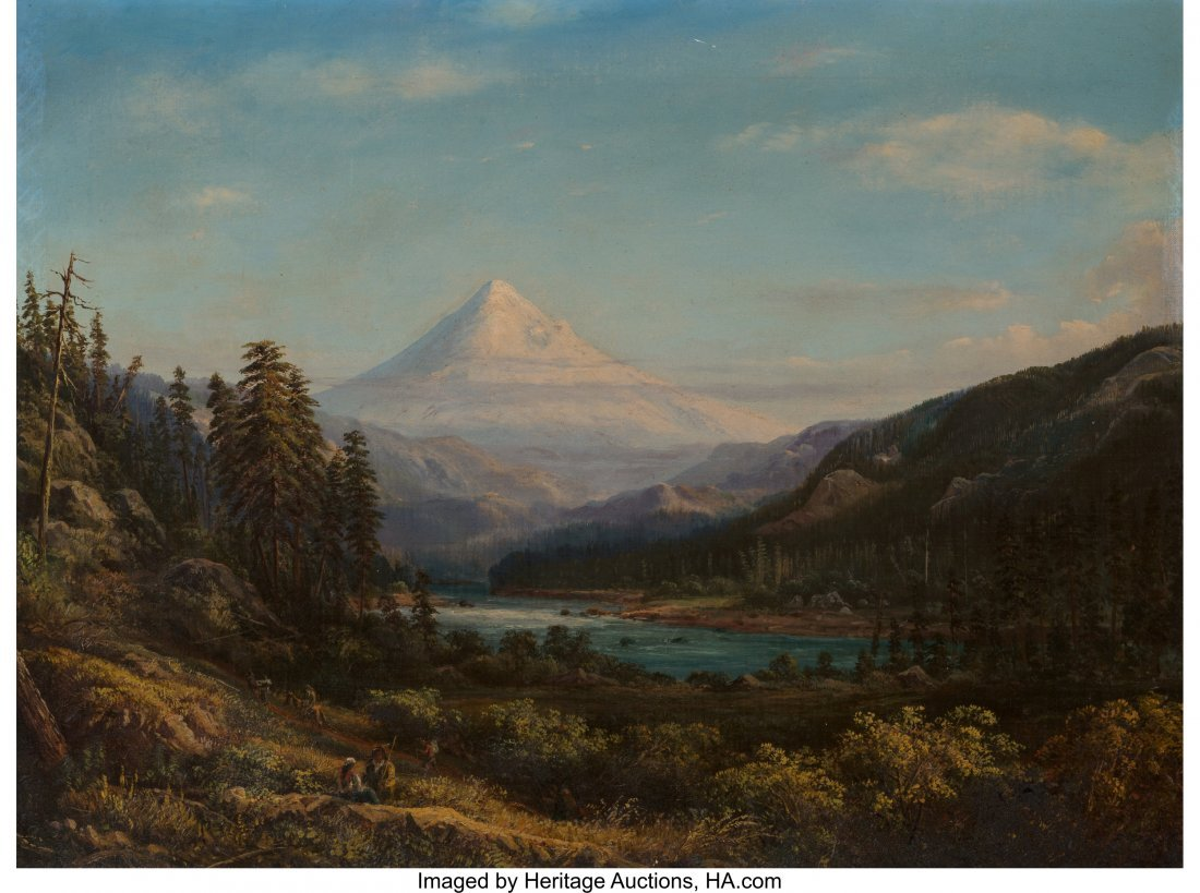 69064: William Keith (American, 1839-1911) Mount Hood f