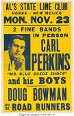 89147 Carl Perkins Als State Line Club Concert Poster