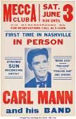 89148 Carl MannSun Records Mecca Club Concert Poster
