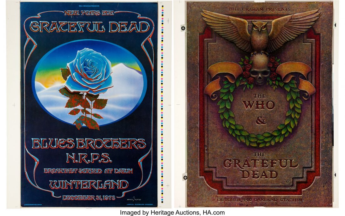89541: Grateful Dead  - Two Concert Poster Printer's Pr