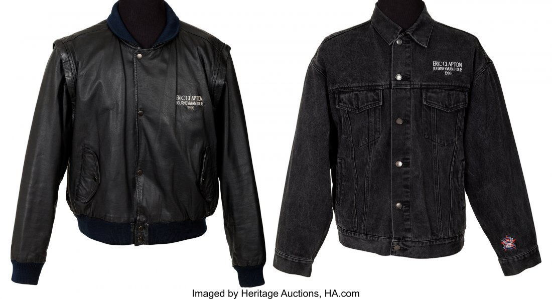 89482: Eric Clapton Two Tour Jackets From the Journeyma
