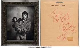 89583: Michael Jackson Framed Photo Signed on Back of F