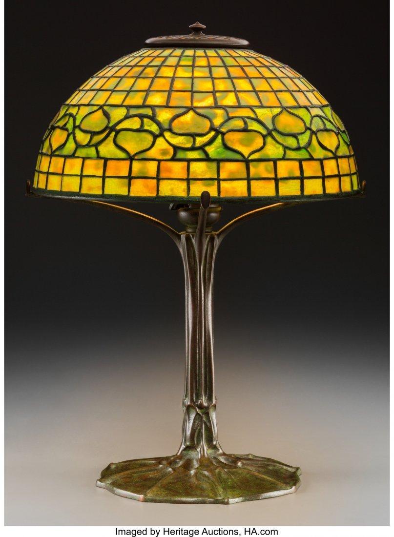 79003: Tiffany Studios Favrile Glass and Bronze Acorn T