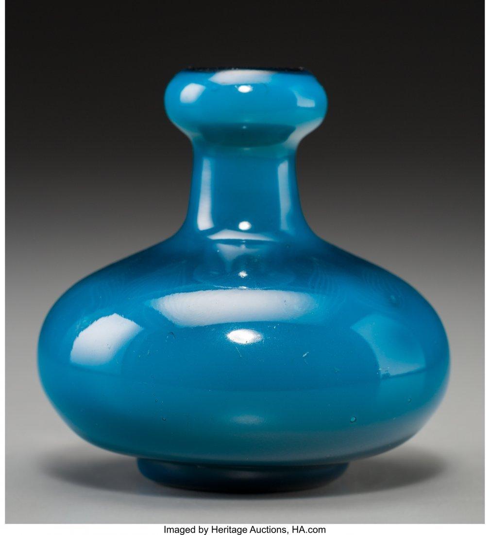79007: Tiffany Studios Persian Blue Favrile Glass Cabin