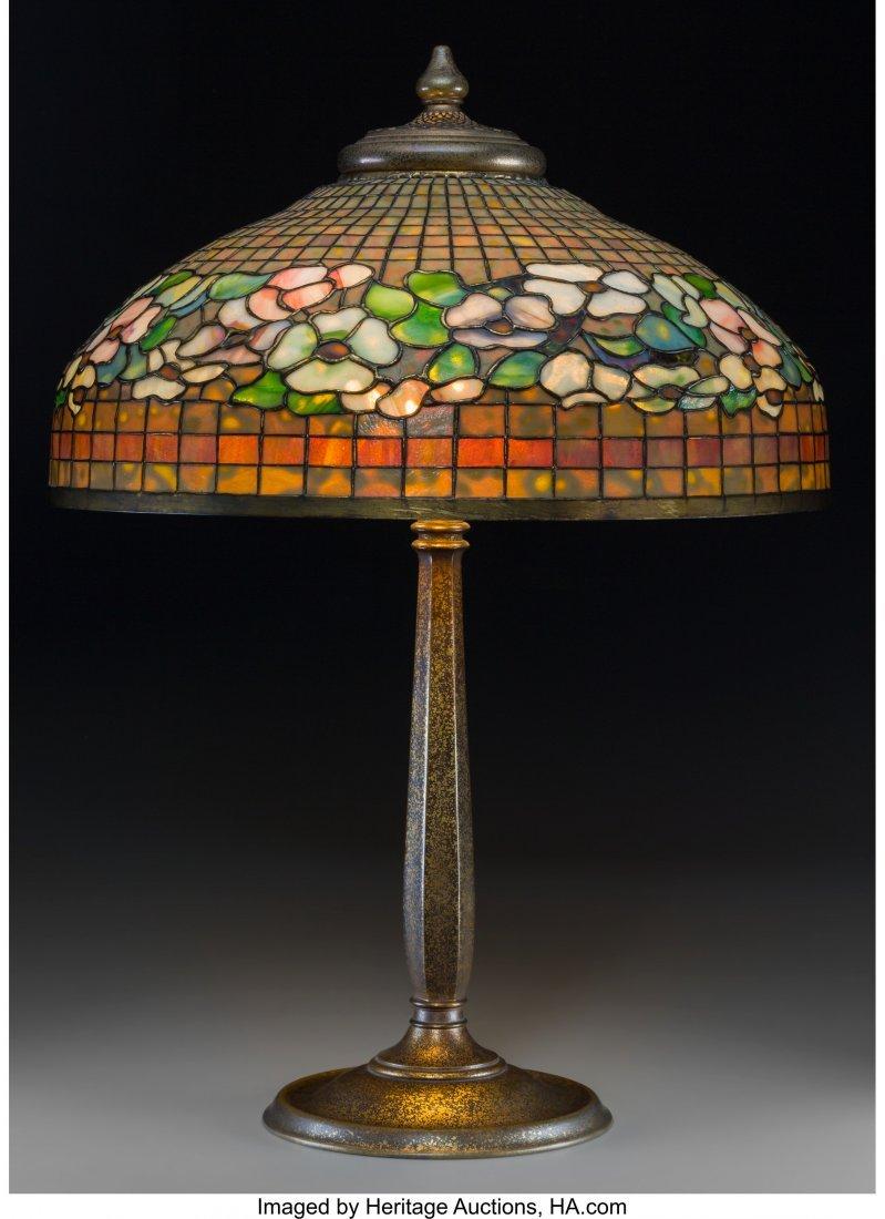 79020: Tiffany Studios Favrile Glass and Gilt Bronze Do