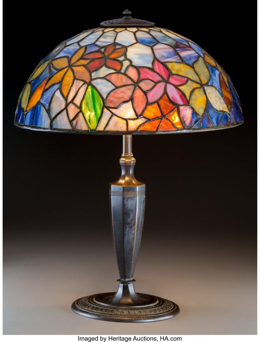79021: Tiffany Studios Favrile Glass and Bronze Woodbin