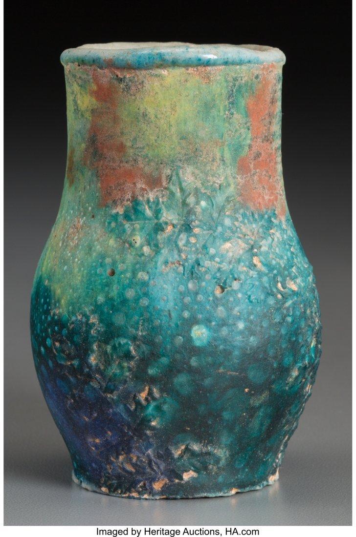 79170: Albert Dammouse Pate-de-Verre Cabinet Vase Circa