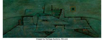 Gunther Gerzso (1915-2000) Strata III, 1953 Oil