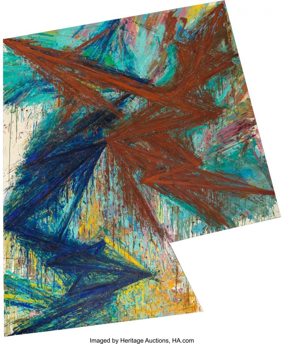 69056: Mel Bochner (b. 1940) Torque, 1984 Oil on canvas