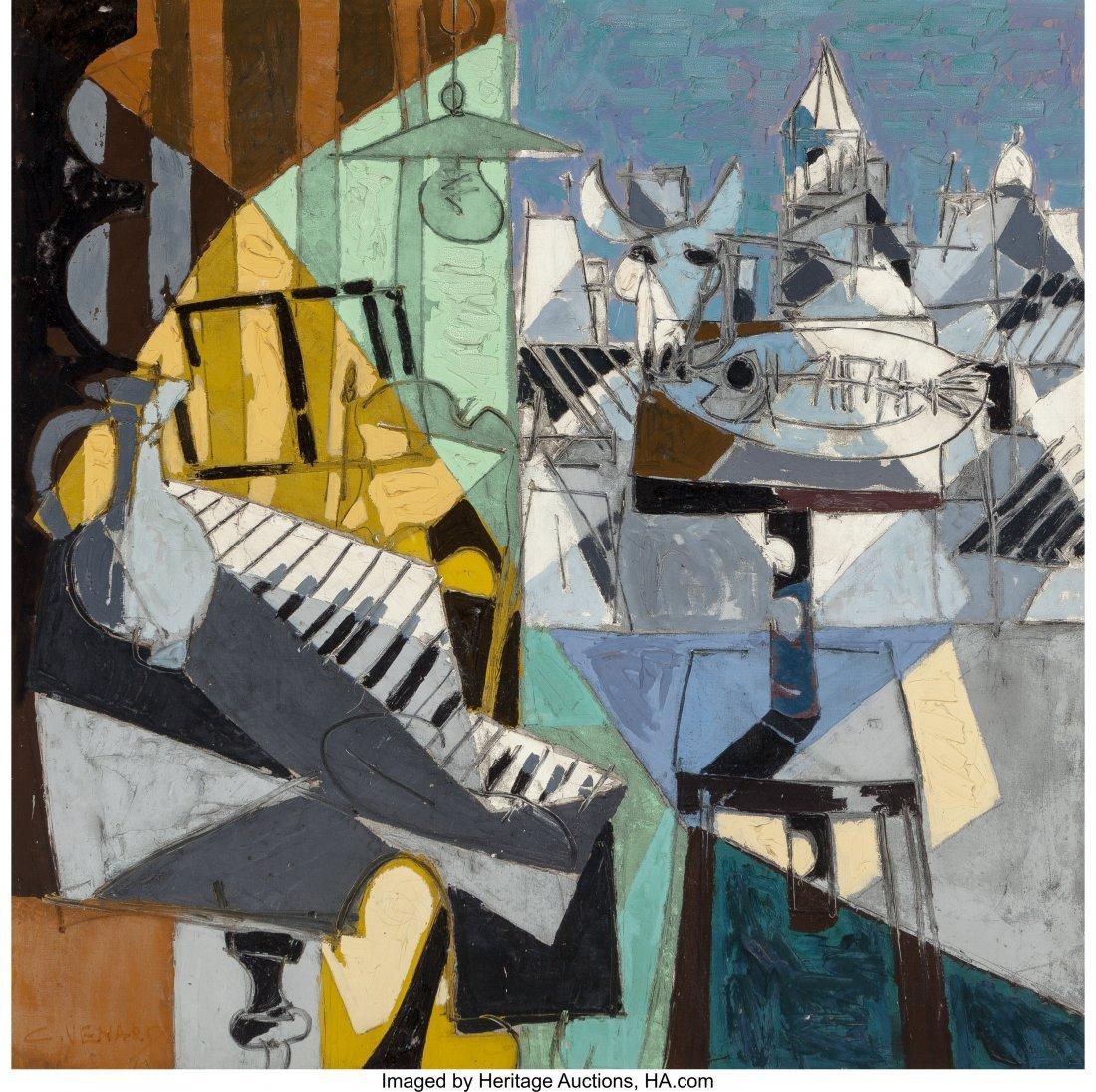 69009: Claude Venard (1913-1999) Le repas du pianiste O