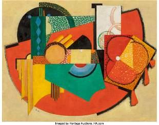 69028: Auguste Herbin (1882-1960) Composition, Couple p