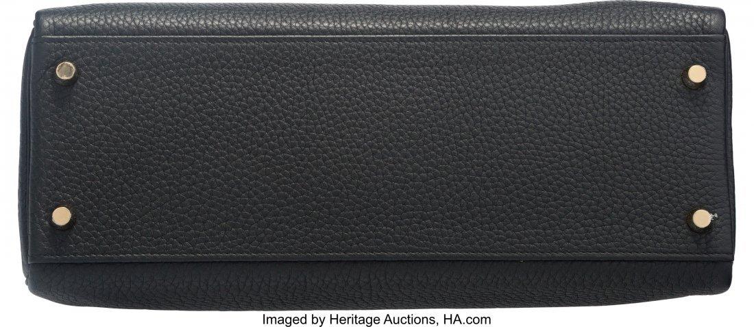 58206: Hermes 32cm Black Clemence Leather Retourne Kell - 4