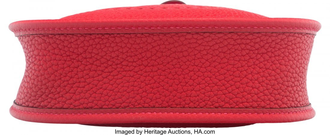 58045: Hermes Rouge Vif Clemence Leather Evelyne TPM Ba - 3