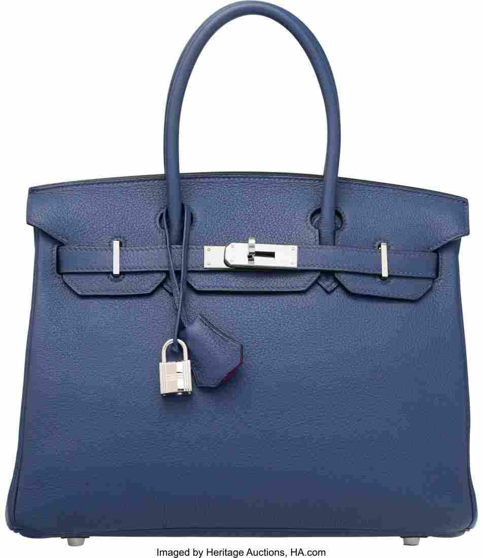 58163: Hermes Special Order Horseshoe Blue Brighton & R
