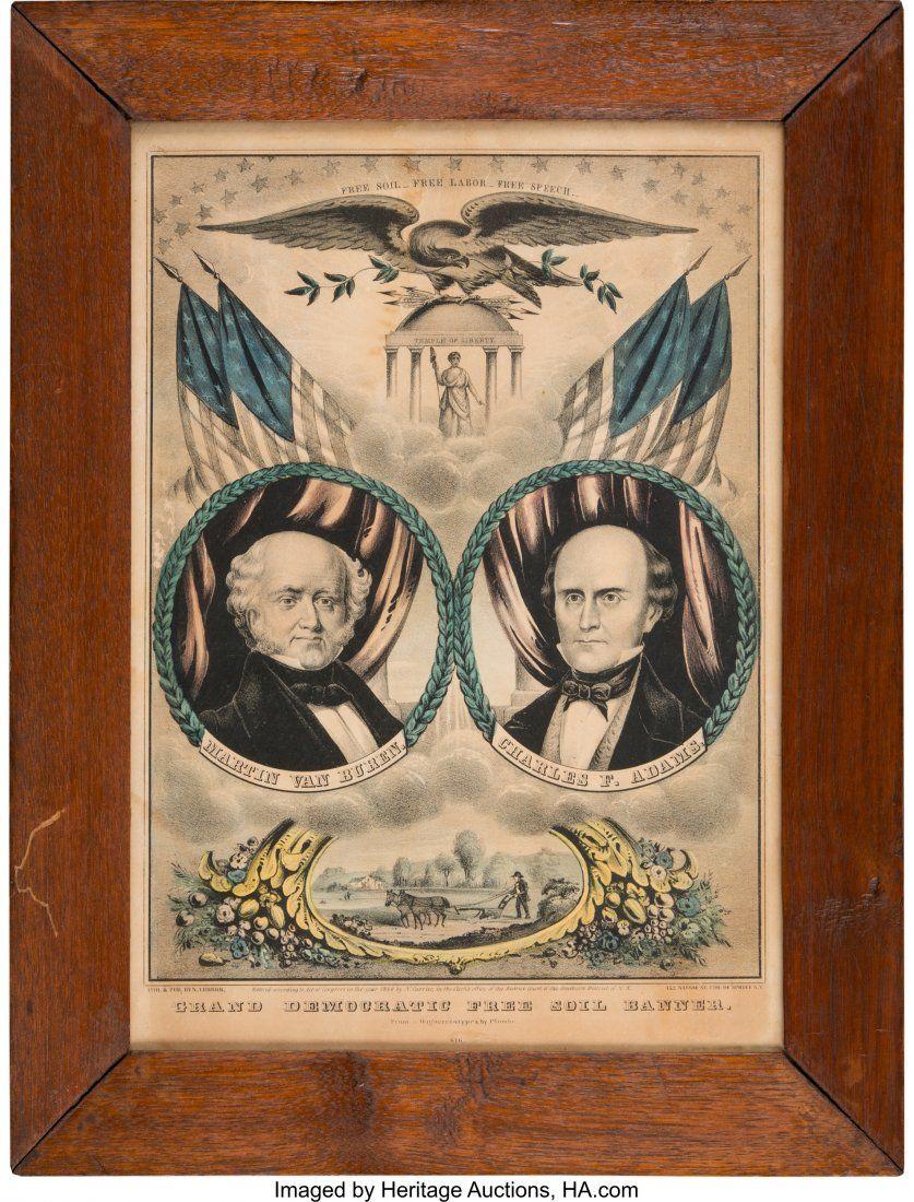 43027: Van Buren & Adams: Jugate Grand National Banner.