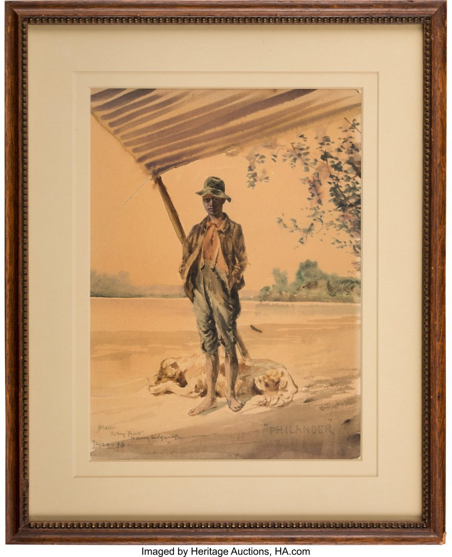 43186: James Henry Moser: Genre Watercolors. Group of t - 2