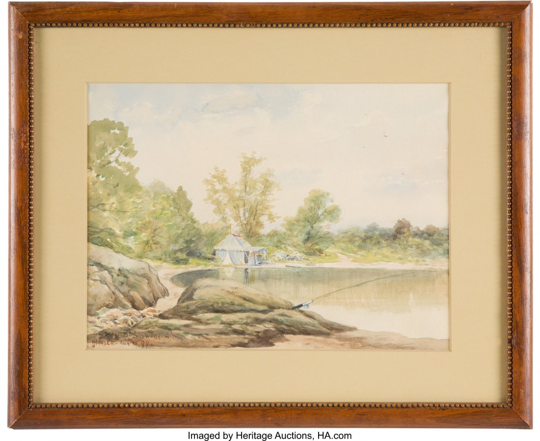 43186: James Henry Moser: Genre Watercolors. Group of t - 3