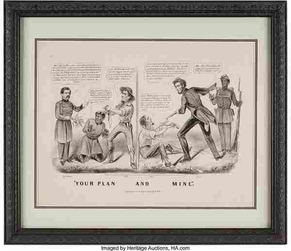43053: Abraham Lincoln: 1864 Campaign Cartoon. Currier
