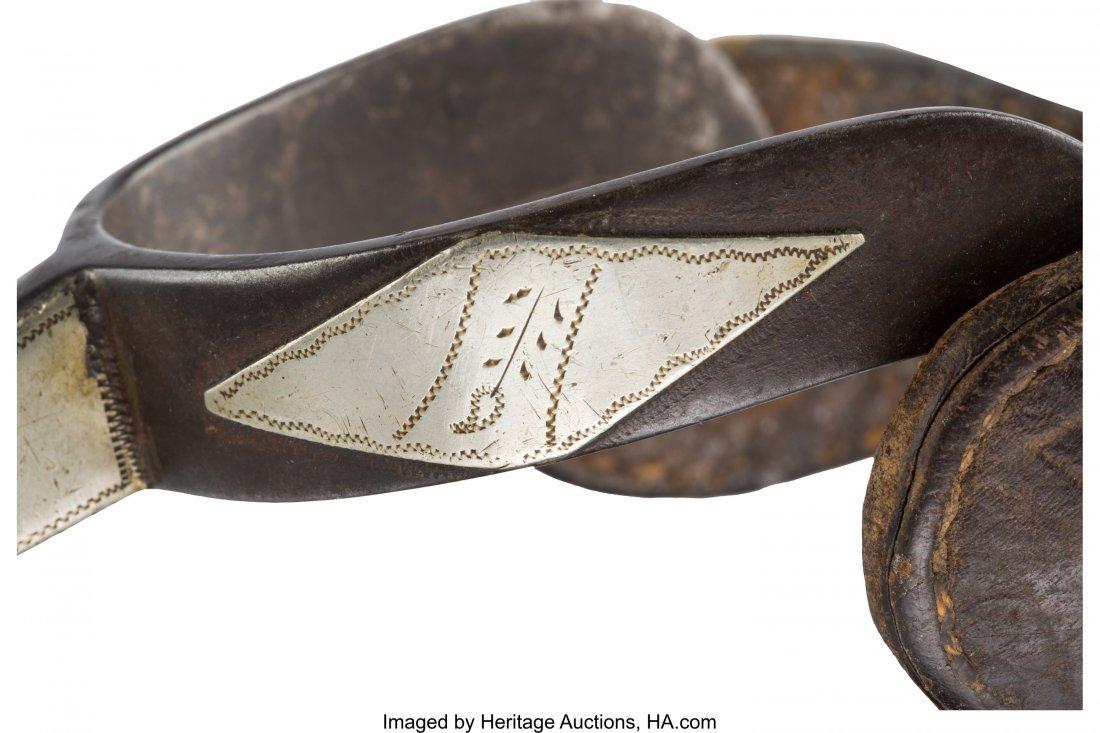 43279: Western Gear: Kelly Brothers Gal-Leg Spurs. Pair - 3