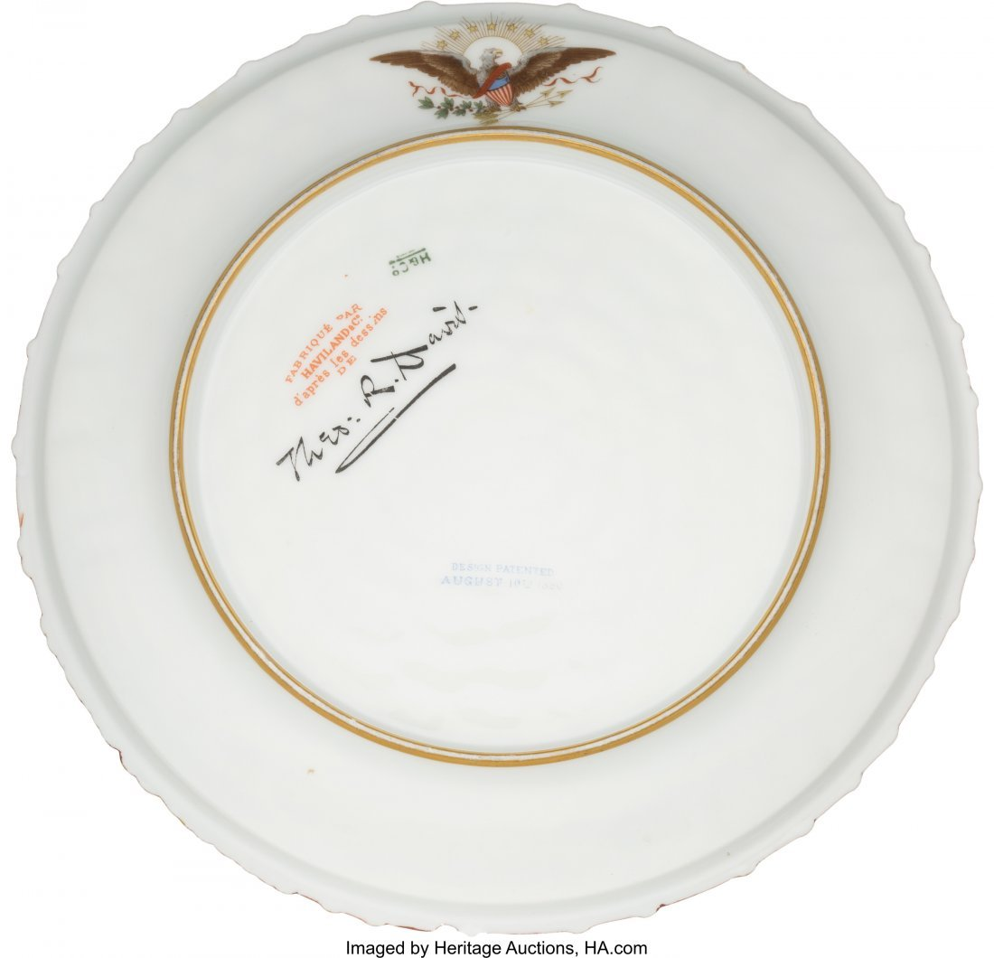 "43083: Rutherford B. Hayes: White House China. 8.75"" pl - 2"