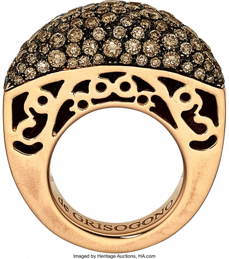 55070: Colored Diamond, Gold Ring, De Grisogono   The r