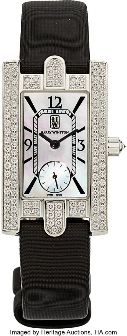 55075: Harry Winston Lady's Diamond, Mother-of-Pearl, W