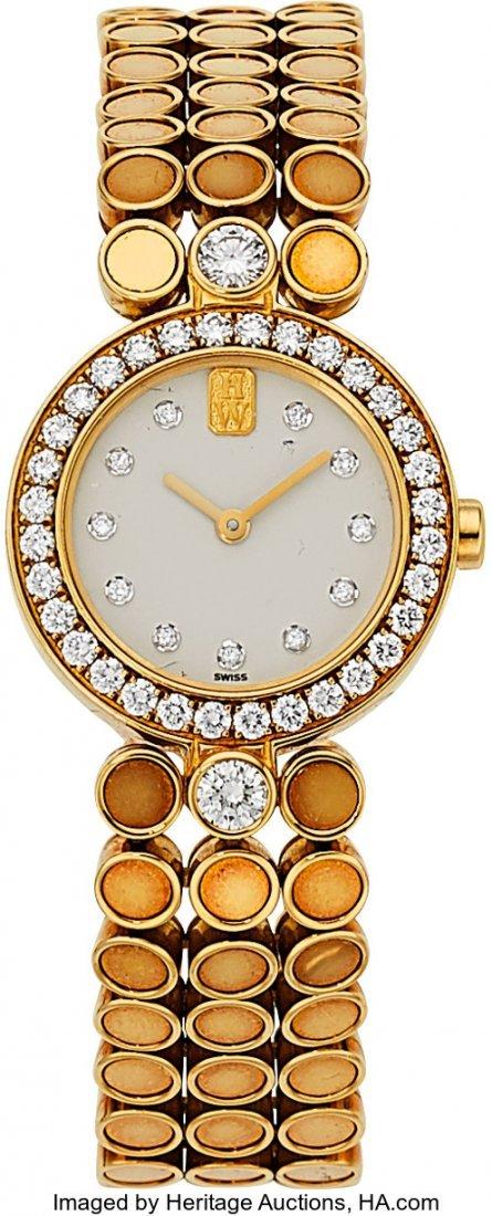 55083: Harry Winston Lady's Diamond, Gold Classique Wat