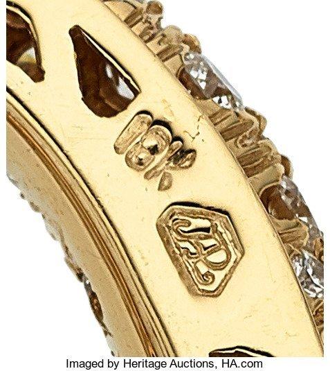55270: Diamond, Yellow Sapphire, Gold Pendant  The pend - 3