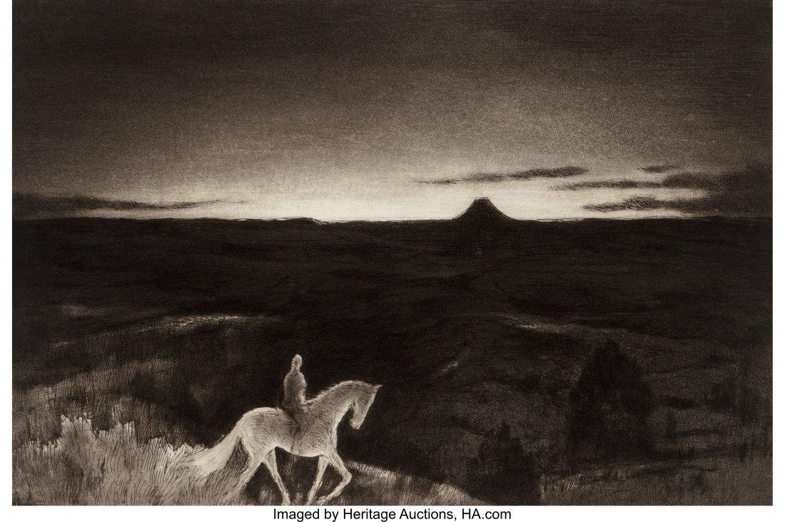 61055: Gene Kloss (American, 1903-1996) Sundown Etching