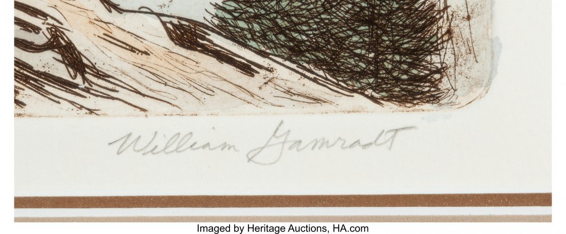 61130: William Gamradt (American, 20th Century) White T - 3
