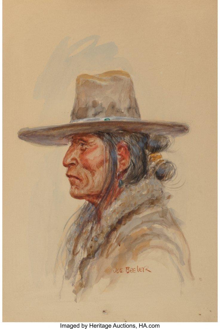 61057: Joe Beeler (American, 1931-2006) Navajo Man Wate